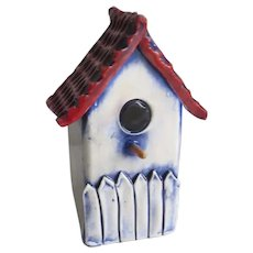 Vintage Pottery Shaker (Salt or Pepper) Birdhouse