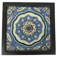 17th Century Square Tile Central Flowerhead