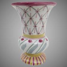 Vintage Retired MacKenzie Childs Pottery Glazed Vase 1996