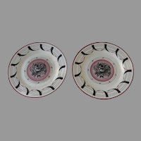 Pair Two Clarice Cliff & Graham Sutherland Plates 9""