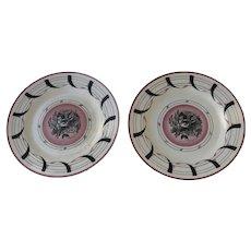 "Pair Two Clarice Cliff & Graham Sutherland Plates 9"""
