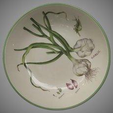 Vintage Williams Sonoma Italy Garlic Herb Motif Pasta Serving Bowl