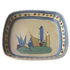 Vintage Mexican Pottery Bowl  Tlaquepaque