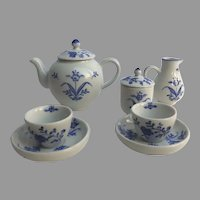 Vintage Williamsburg Child's Children's Delft Blue and White Tea Set