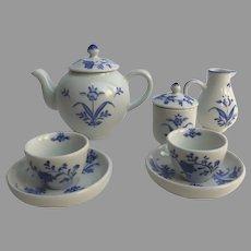 Vintage Williamsburg Child's Children's Delft Blue and White Tea Set