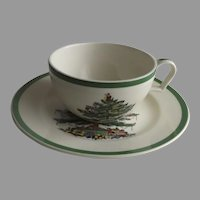 Vintage Spode Christmas Tree Plate and Jumbo Cup