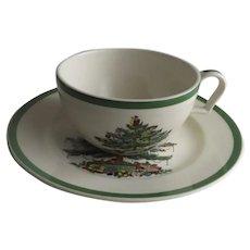 Vintage Spode Christmas Tree Plate and Jumbo Cup