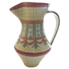 """Vintage Retired MacKenzie Childs Pottery Glazed Pitcher """"Madison"""""""