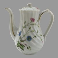 "Vintage Haviland Coffee Pot ""Florence"" France Gilt Edge"