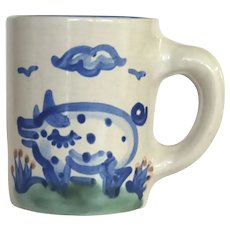 Vintage Hadley Cup Mug Pig Motif