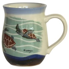 Artist WENDY MORGAN Sea Turtles Mug Cup