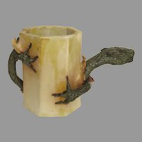 Artist Made Pottery Ceramic Mug with Lizard Hatching Pitcher