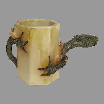 Artist Made Pottery Ceramic Mug with Lizard Hatching Pitcher