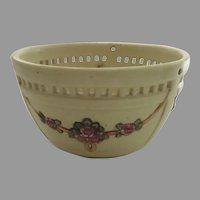 WELLER Roma Hanging Planter Basket American Art Pottery