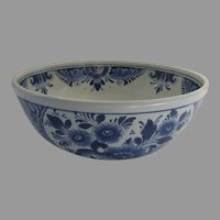 "Vintage 7"" Delft Blue and White Bowl Made in Holland"