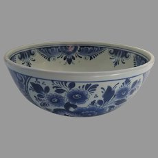 """Vintage 7"""" Delft Blue and White Bowl Made in Holland"""