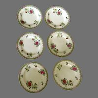 """Set of Six (6) Copeland T. Goode England Chinese Blossom Dinner Plates 10 1/4"""""""