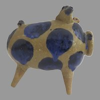 Vintage John Deneen Studio Pottery Piggy Bank Curly Tail