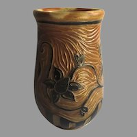Vintage Wood fired Vase by Taos Artist Sarah Newberry Pottery Ceramics