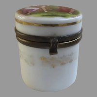 Late 19th Century Porcelain Trinket Pill Box Image by Artist Angelica Kauffman