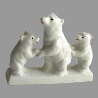 Vintage Three China Polar Bears on Ice Block Made in Japan