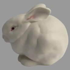 Vintage Cybis Bisque Porcelain Mr. Snowball White Red Eyes Bunny Rabbit New Jersey