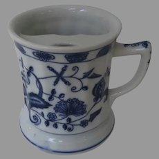 """Vintage Brandenburg ''Blue Onion'' Blue and White Moustache 4"""" Mug Cup"""
