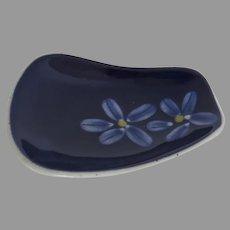 Charming Vintage Ceramic Spoon Rest Chopstick Sushi Dish Deep Cobalt Glaze