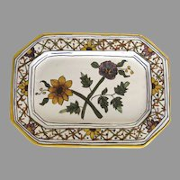 Vitage FFA Malveira Marques Hand Painted Small Tray Portugal Sunflower