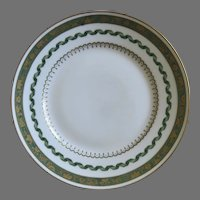 Vintage Richard Ginori Pincio Green Dinner Plate