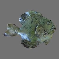 """Hand Made Ceramic Vintage Fish Wall Plaque by """"Gildart"""" Garden, Pool"""