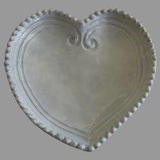 Vietri Made in Italy Incanto Heart Shaped Dish White
