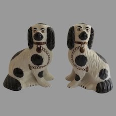 Pair of Vintage Staffordshire Dogs Spaniels Made in England