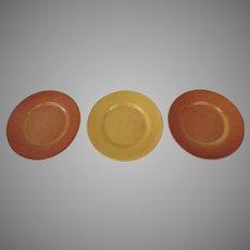 "Vintage Gladding McBean/Franciscan Pottery Plates El Patio 9.5"" and 10.5"""