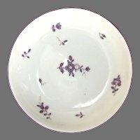 Dutch Amsterdam Hard Paste Porcelain Tea Bowl Plum Colored Blossoms 18th Century