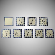 Group of 130 Vintage Mexican Tiles Numbers