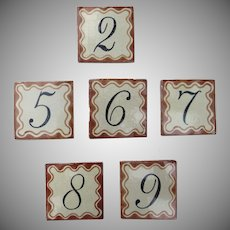 Group of 109 Vintage Mexican Tiles Numbers
