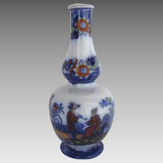 English 19th Century Small Bud Vase Chinoiserie Decoration