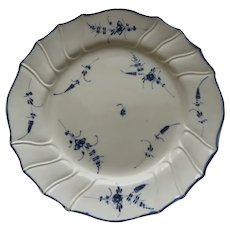 Creamware Plate made by Pierre-Joseph Boch's Pottery Factory at Septfontaines c 1787-1800 Luxembourg