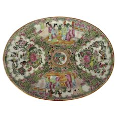 Chinese Export Oval Platter Gilt Highlights 19th Century