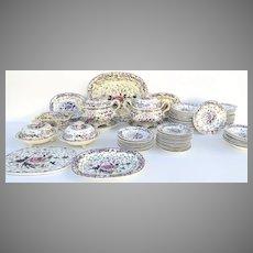 P.640 Set of 72 Pieces of Porcelain by Grainger's Porcelain, Worcester.
