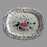 """Porcelain by Grainger's, Worcester, England 1814-1839 Large Platter 21"""" by 16 1/2"""""""