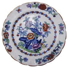 """English Ironstone Plate by Booths """"The Pompadour"""""""