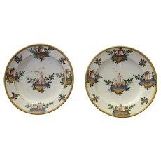 19th Century Pair of Italian Faience Plates