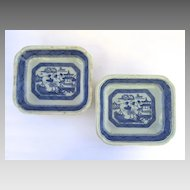 "Pair of English "" Canton"" Rectangular Dishes"