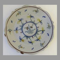 French faience Plate