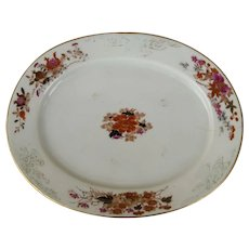 Mid 19th century Chinese export platter.