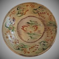 Early 19th Century French Glazed Pottery Charger