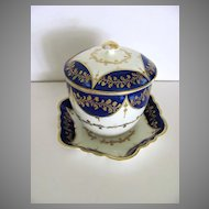 Caughley Sucrier and Tea Pot Stand c1790
