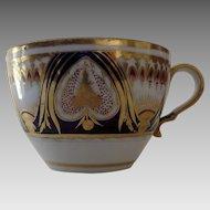 Early 19th Century English Cup Gilt Cobalt Rust Imari Colors